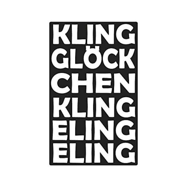 Label Kling Glöckchen Klingel. 40x65mm
