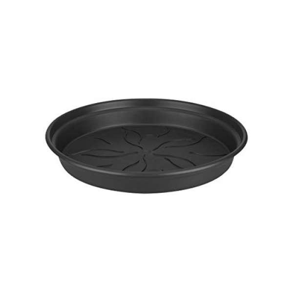 ELHO 6990221443300 Blumentopf Untersetzer green basics, 14 cm, schwarz