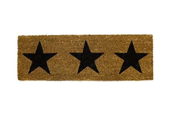Fußmatte Sterne schwarz 25x75cm
