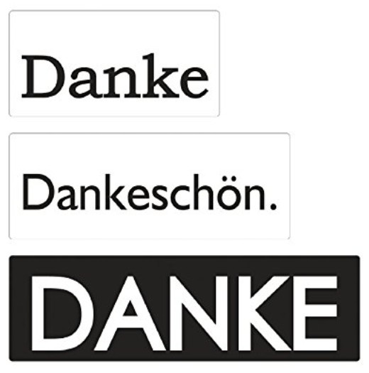 "Labels ""Danke"""