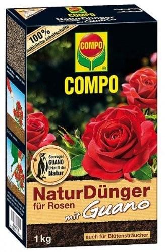COMPO Bio Naturdünger für Rosen mit Guano 1kg