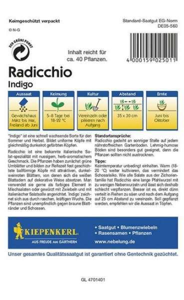 Kiepenkerl Radicchio Indigo