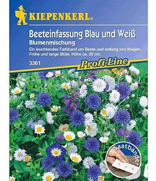 Blumenmix Blau+Weiß Saatb.