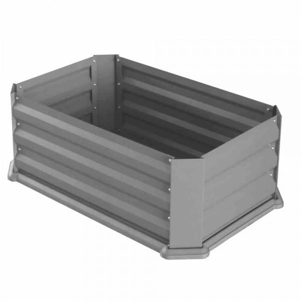 Hochbeet Mit Boden 80x50x30cm Grau Beetabgrenzungen Halter Und
