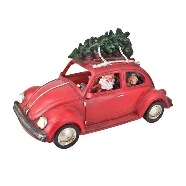 Led Weihnachtsmann Im Auto Mit Tannenbaum Dekoration Weihnachten