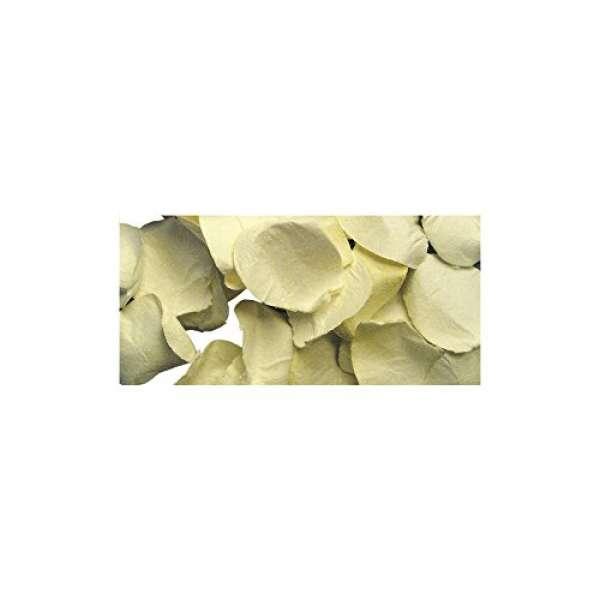 Papier Blütenblätter D:2,5cm creme