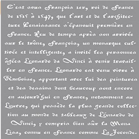 Schablone französische Schrift 30,5x30,5cm