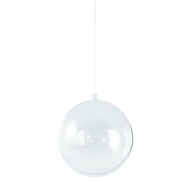 Plastik Kugel 2tlg. 06cm kristall