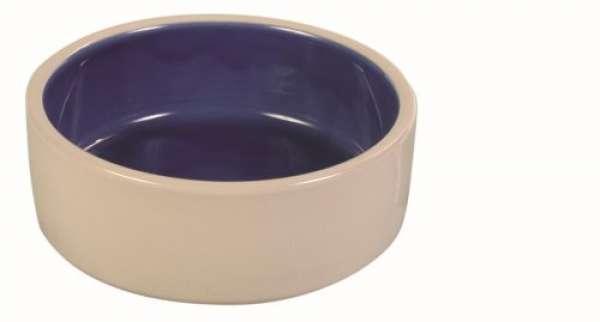 Trixie Keramiknapf blau/creme, 1 l/ø 18 cm