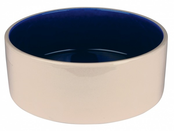Trixie Keramiknapf creme/blau, 2,1 Liter/ø 23 cm