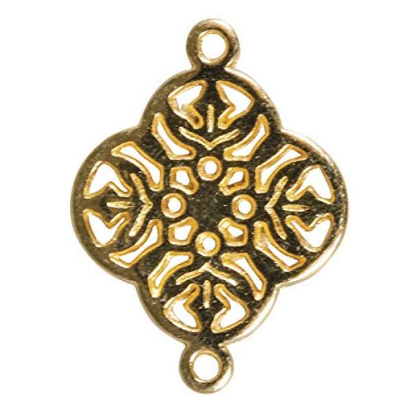 Metall Zierlement Ornament Blume gold