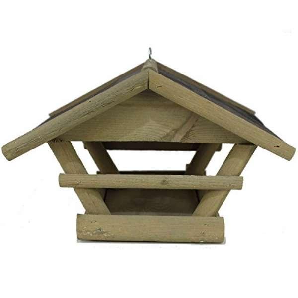 Vogelhaus groß hell Kiefer 32x38x26cm