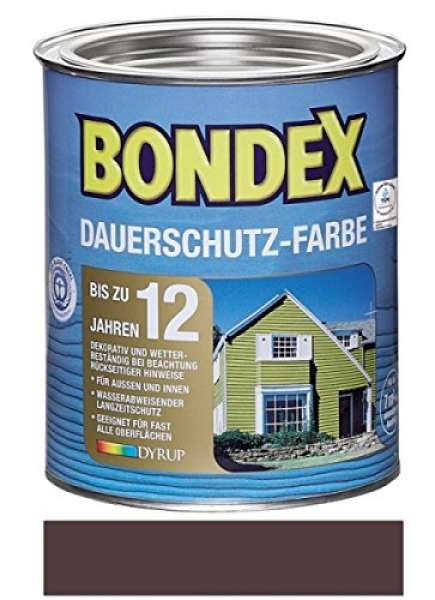 Bondex Dauerschutz-Farbe 0,75 Liter Schokoladenbraun