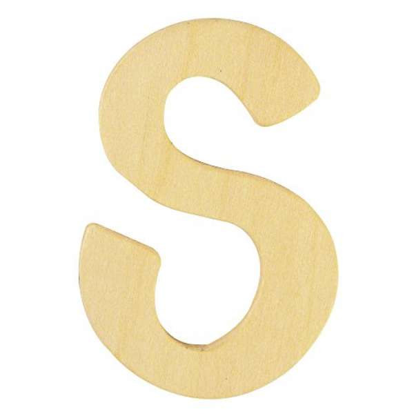 Holz Buchstabe S