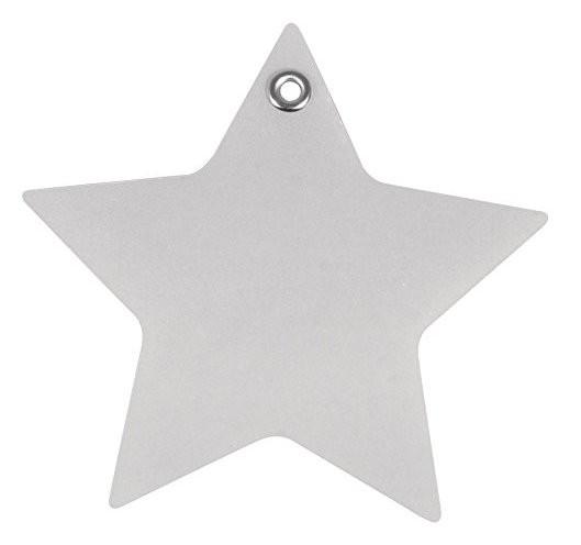 Stern mit Eyelet, 9,5cm ø weiß