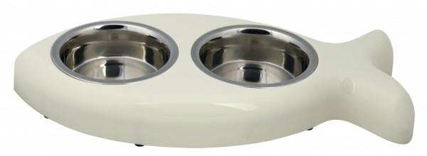 Trixie Napf-Set mit Kunststoffhalter 2 × 0,25 l/ø 12 cm