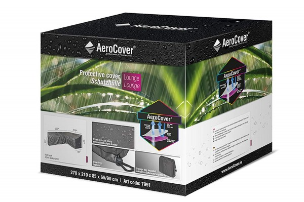 AeroCover Schutzhülle in L-Form recht für Lounge Sets, 270 x 210 x 85 x 65/90 cm