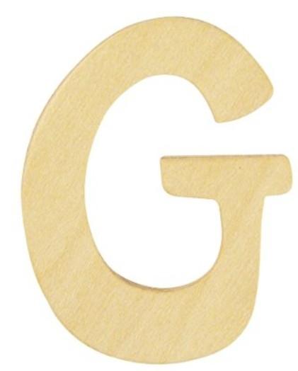 Holz Buchstabe G