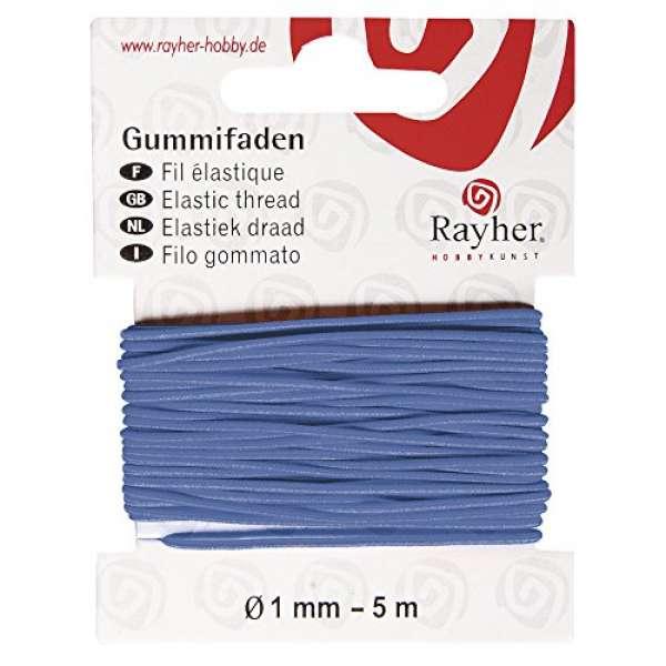 Gummifaden 5m blau