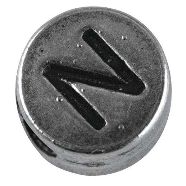Metall Perle N D7mm Loch 2mm silber