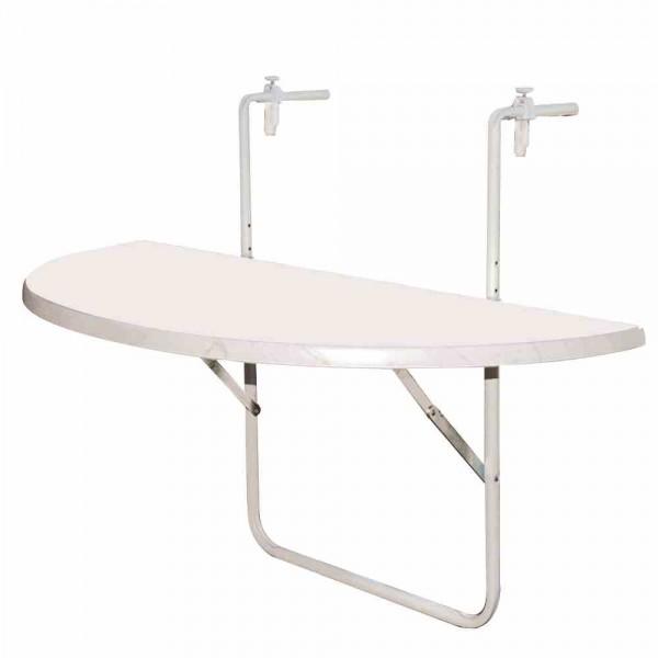 balkonh ngetisch 100x50 cm wei kunststoffplatte tische metallm bel gartenm bel online. Black Bedroom Furniture Sets. Home Design Ideas