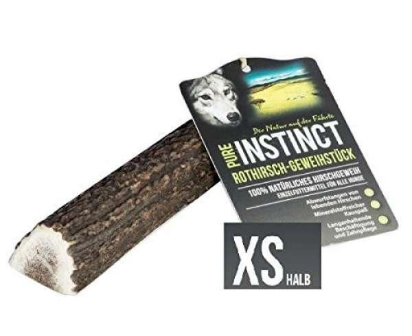Pure Instinct Rothirsch-Geweihstück, halb XS (25-50g)